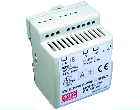 DR-45-24 Meanwell 24Vdc 2A DIN Rail Power Supply