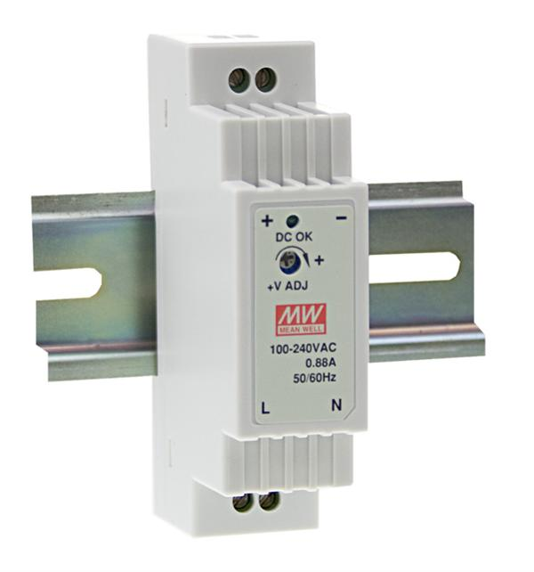 Dr 15 24 Meanwell 24vdc 0 63a Din Rail Power Supply