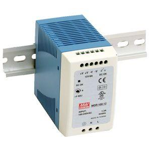 MDR-100-24 Meanwell 24Vdc 4A DIN Rail Mount Power Supply